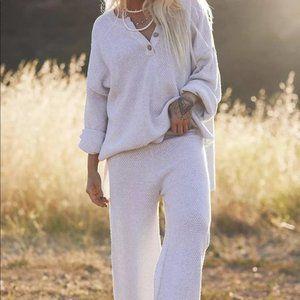 Free People 2-piece Hailee Sweater Set White